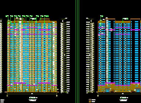 多個高層住宅詳細建筑施工圖設計cad圖(5)