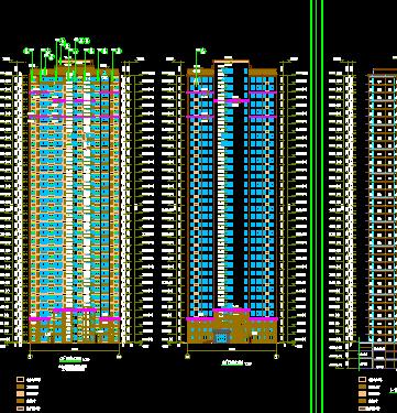 多個高層住宅詳細建筑施工圖設計cad圖(2)