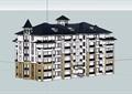 六層詳細的小區建筑樓設計su模型