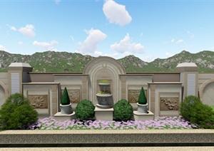 东莞中信御园20栋别墅花园方案设计