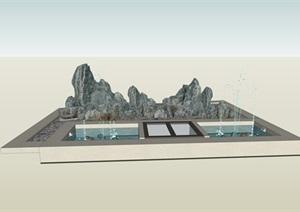 山水,片岩,创意,小景观,