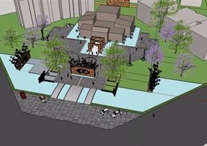 售楼处样板区环境设计SU(草图大师)模型