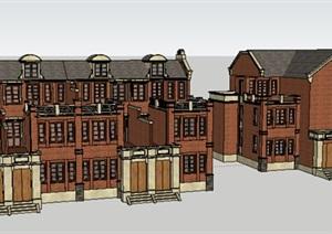 新古典风格多层别墅建筑