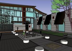 新古典风格单层会所建筑
