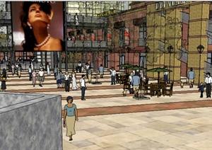 现代风格商业步行街建筑