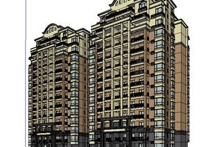 现代欧式风格高层住宅建筑