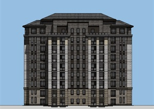 现代风格中高层住宅新中式
