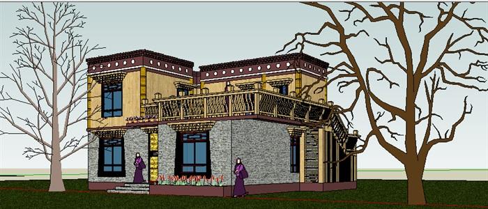 293-藏式民居,现代主义风格,2层(1)