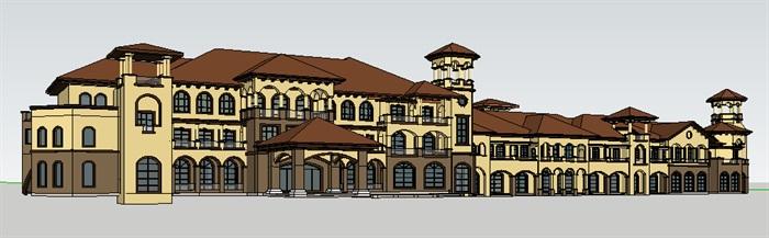 295-商业建筑群,托斯卡纳风格,3层(3)