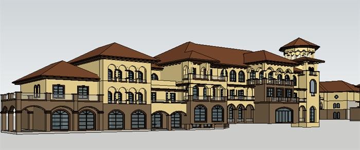 295-商业建筑群,托斯卡纳风格,3层(6)