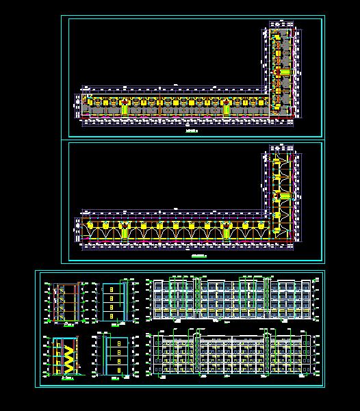 loft公寓建筑方案设计详细cad图(1)