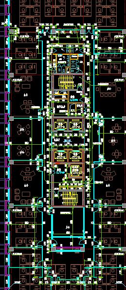 详细办公室布局建筑设计方案cad图(3)