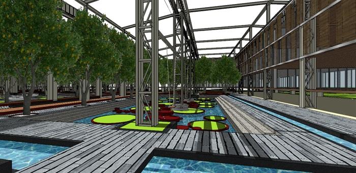 玻璃大棚种植园采摘体验园旧工厂文化创意活动园区(1)