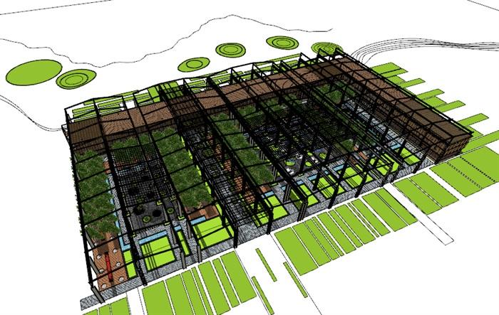 玻璃大棚种植园采摘体验园旧工厂文化创意活动园区(2)