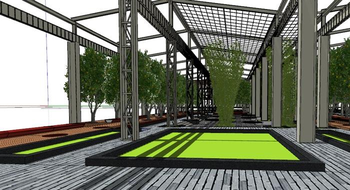 玻璃大棚种植园采摘体验园旧工厂文化创意活动园区(3)