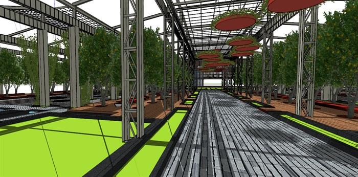 玻璃大棚种植园采摘体验园旧工厂文化创意活动园区(4)
