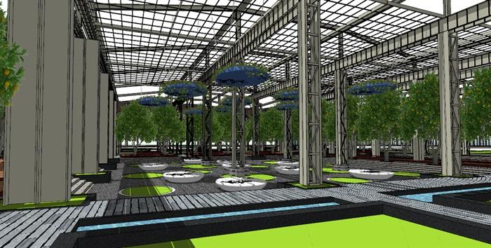 玻璃大棚种植园采摘体验园旧工厂文化创意活动园区(5)