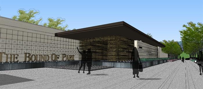 现代经典高端住宅区售楼部示范区活动会所(2)