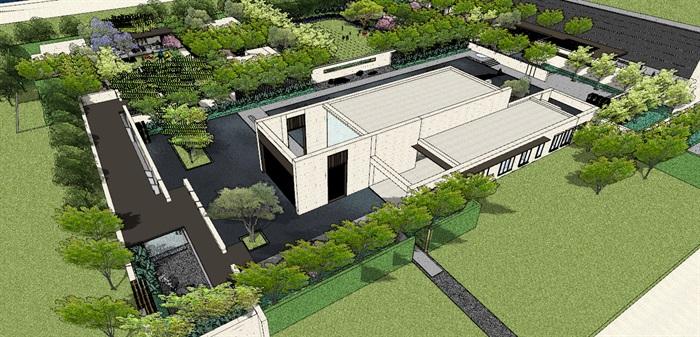 现代经典高端住宅区售楼部示范区活动会所(3)