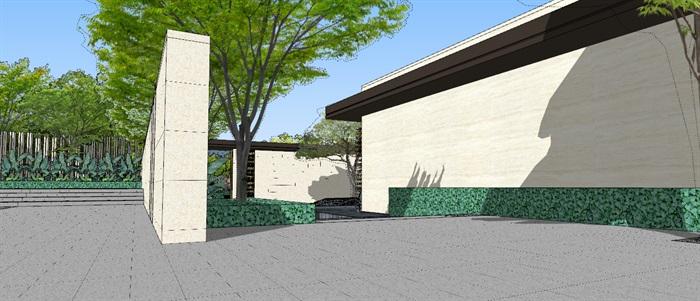 现代经典高端住宅区售楼部示范区活动会所(4)