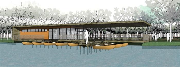 现代创意码头游客服务中心滨水餐厅(1)