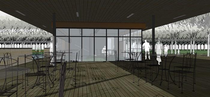 现代创意码头游客服务中心滨水餐厅(2)