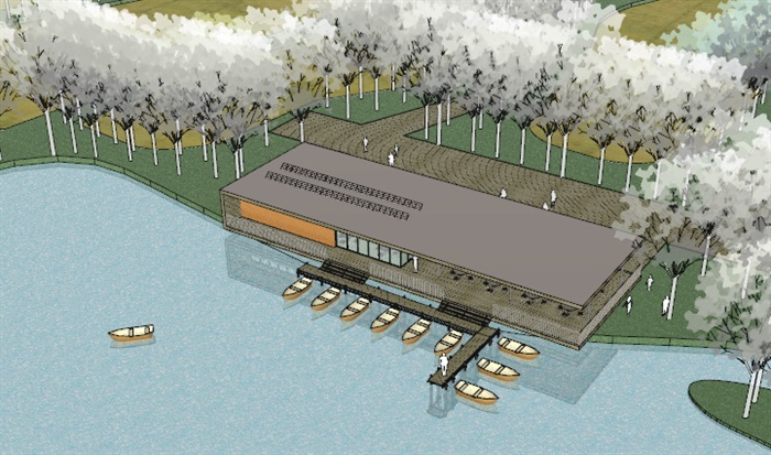 现代创意码头游客服务中心滨水餐厅(3)