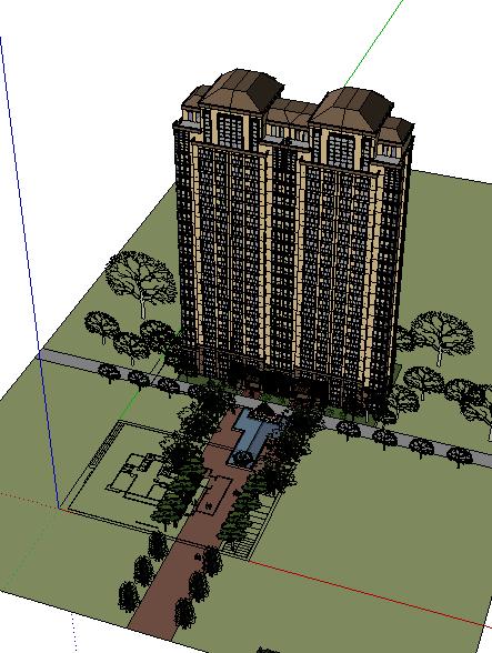 306-高层住宅,新古典主义,23层(1)