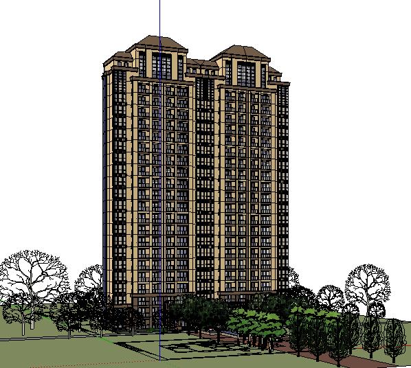 306-高层住宅,新古典主义,23层(3)
