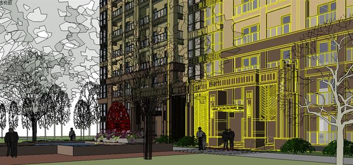 306-高层住宅,新古典主义,23层(5)