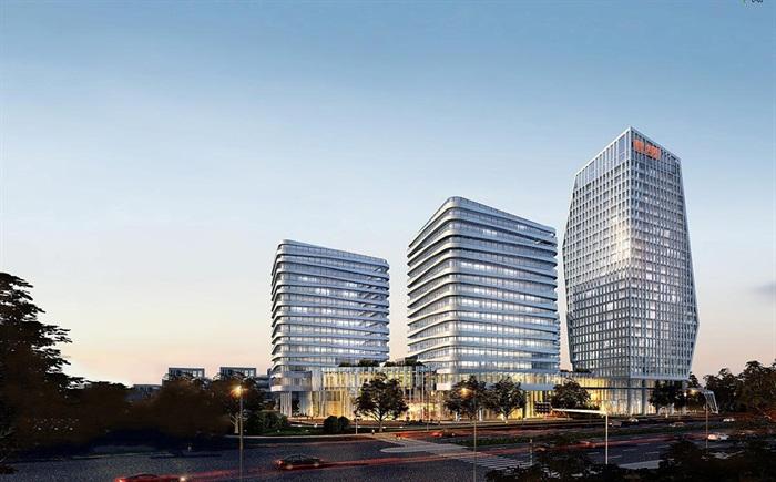 现代创意参数化流线型表皮高层办公商务楼创业产业园区办公基地规划设图片
