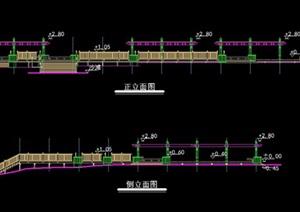 木栈道详细设计cad施工图