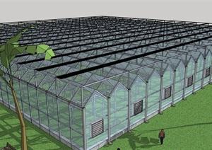 温室大棚详细设计SU(草图大师)模型