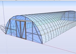 某玻璃温室大棚素材SU(草图大师)模型