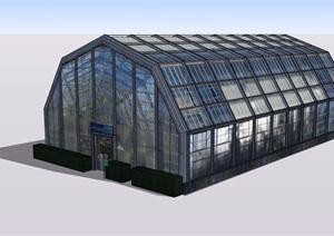 温室大棚详细完整设计SU(草图大师)模型