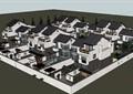 中式小區別墅建筑su模型