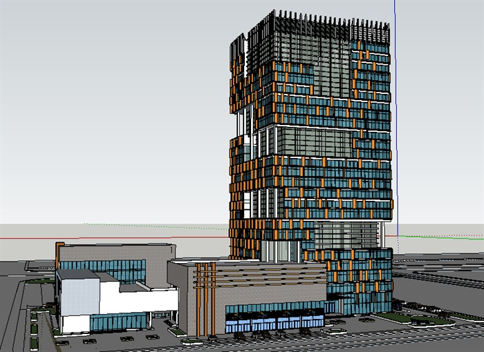 办公楼,现代主义风格,33层[原创]