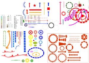 PS分析图制作各类素材汇总PS格式