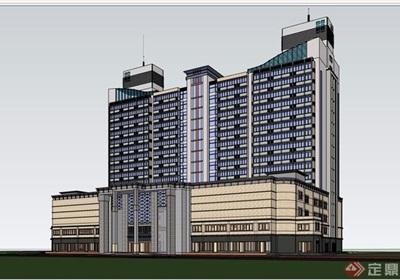 自建酒店详细的金宝博188电子游艺su模型