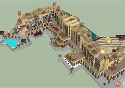 某简欧风格详细的酒店设计su模型