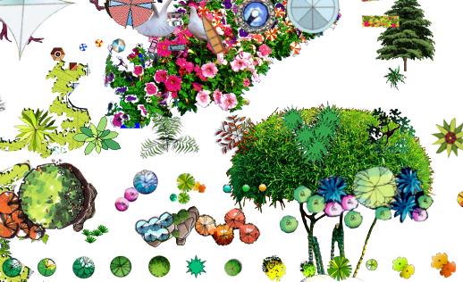 PSD格式的植物和景观节点汇总素材图(2)