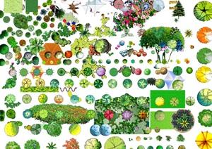 PSD格式的植物和景观节点汇总素材图