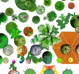 PSD格式的植物和景观节点汇总素材图(3)