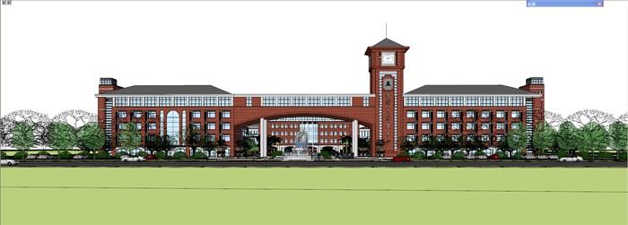 欧式新古典风格中小学贵族学校规划设计(1)