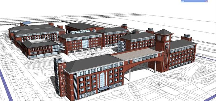 欧式新古典风格中小学贵族学校规划设计(2)