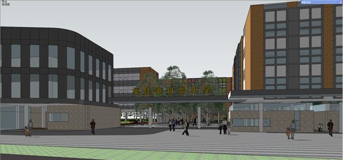 现代中小学校园整体规划设计教学楼设计(3)