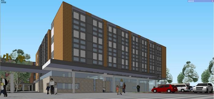 现代中小学校园整体规划设计教学楼设计(4)