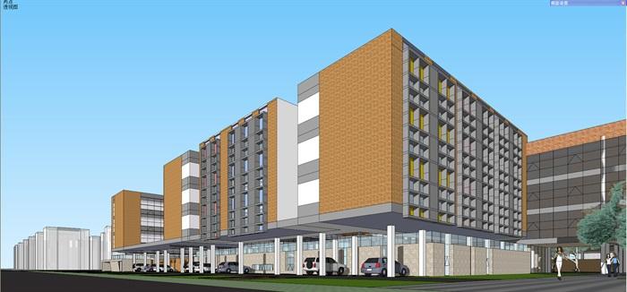 现代中小学校园整体规划设计教学楼设计(9)