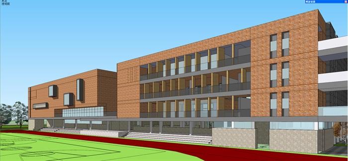 现代中小学校园整体规划设计教学楼设计(10)