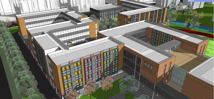 现代中小学校园整体规划设计教学楼设计(11)